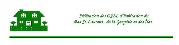 Bulletin d'information pour les OSBL d'habitation de l'Est