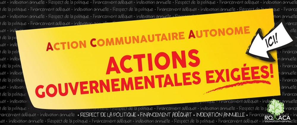 Le RQOH devant la Commission populaire pour l'action communautaire autonome