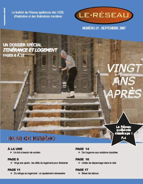 Bulletin Le Réseau no. 21 –Itinérance et logement : 20 ans après !