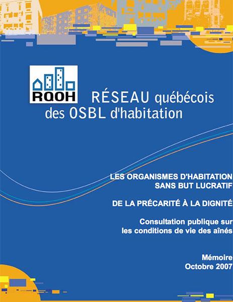 Les OSBL d'habitation et les aînés : La situation et les enjeux
