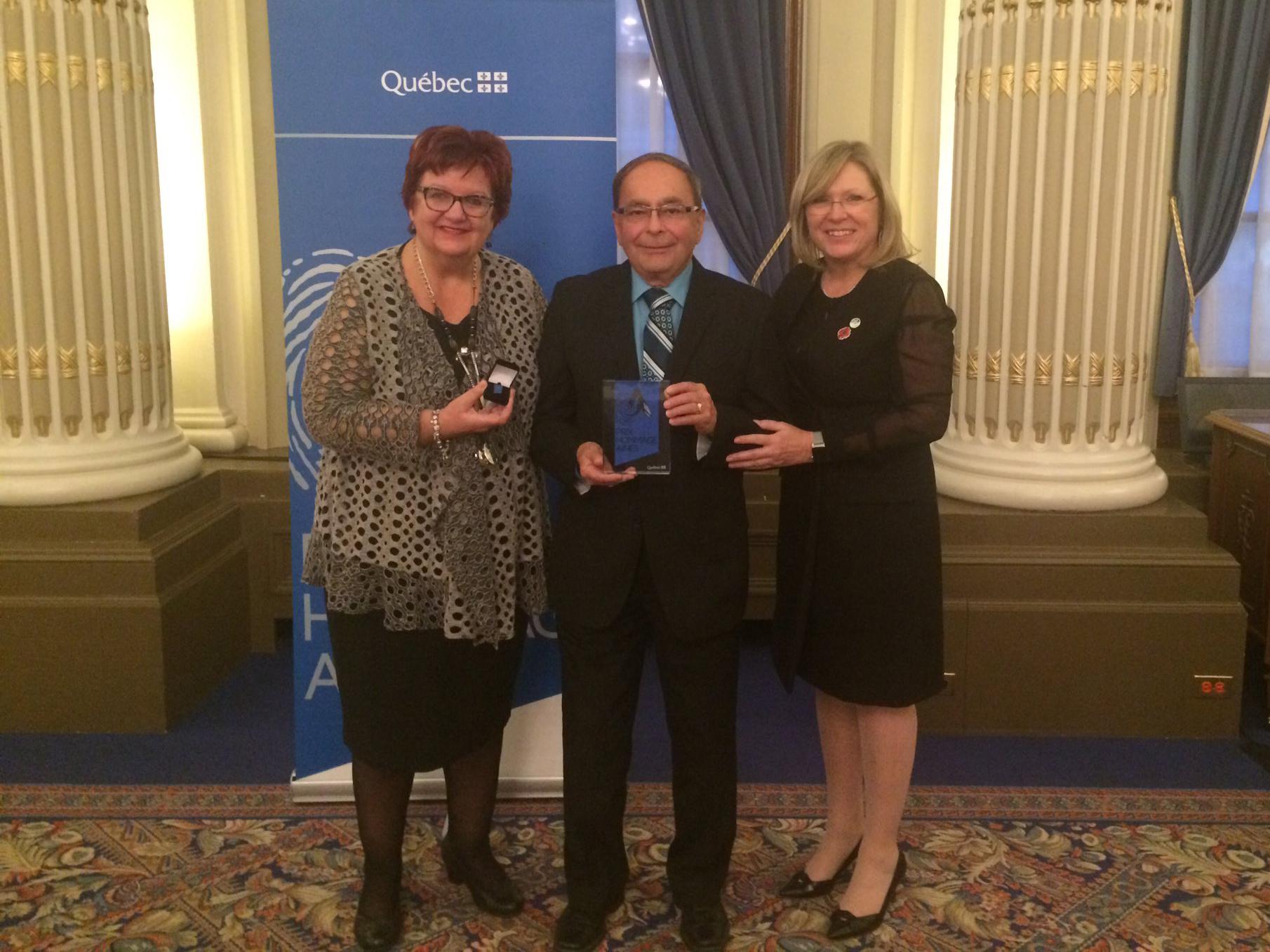 André Nadeau, président d'un OSBL-H de Saint-Léonard-d'Aston, est honoré à Québec